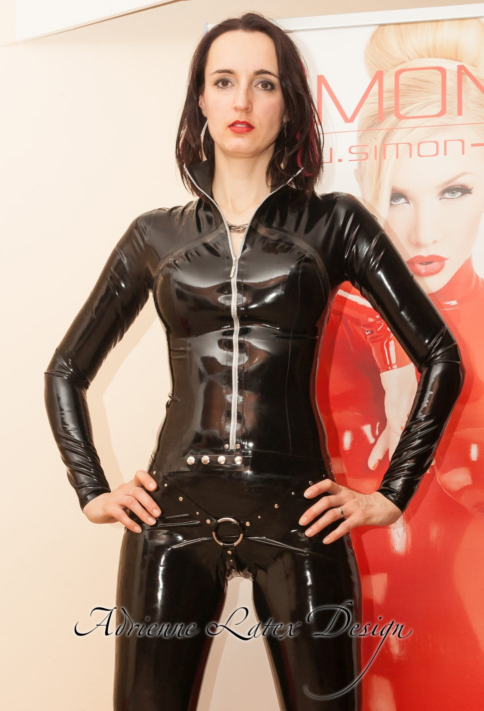 Black latex top
