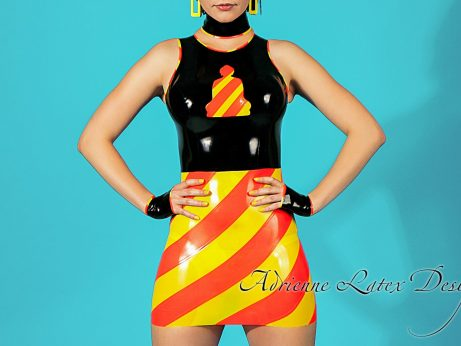 Buddha-latex-dress