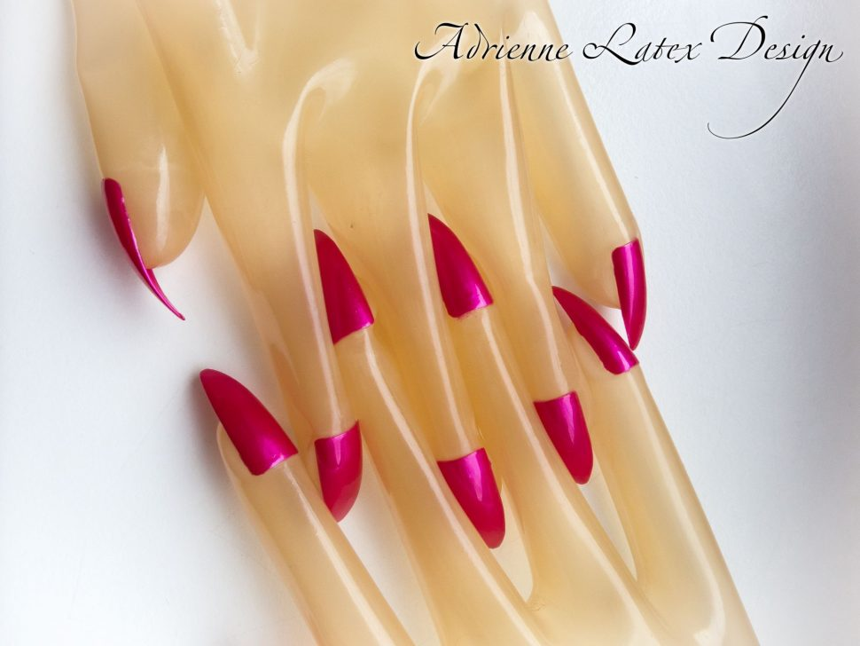 Latex gloves with nails