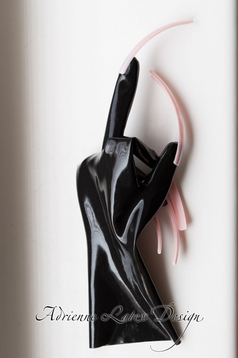 latex gloves with extreme nails