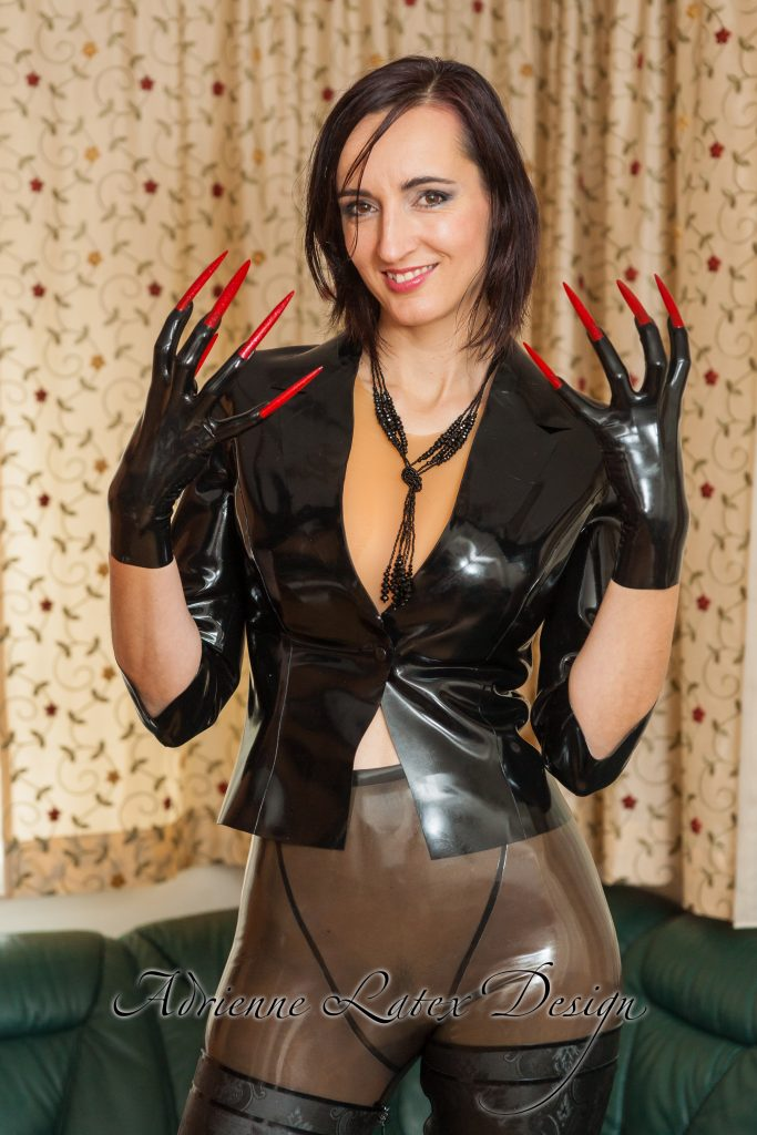 Gloves Shop Adrienne Latex Design Custom Made Fetish